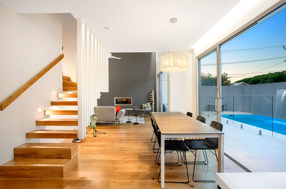 Brunswick House Design Wooden Dining Room and Lounge