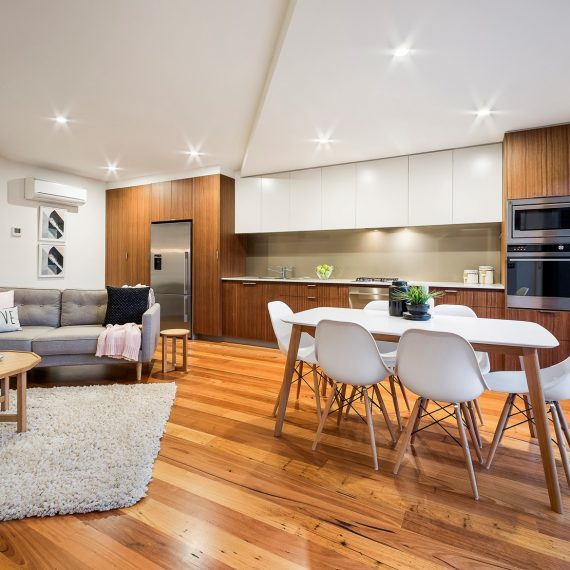 Kew House Design Dining Kitchen Lounge Wooden Floor