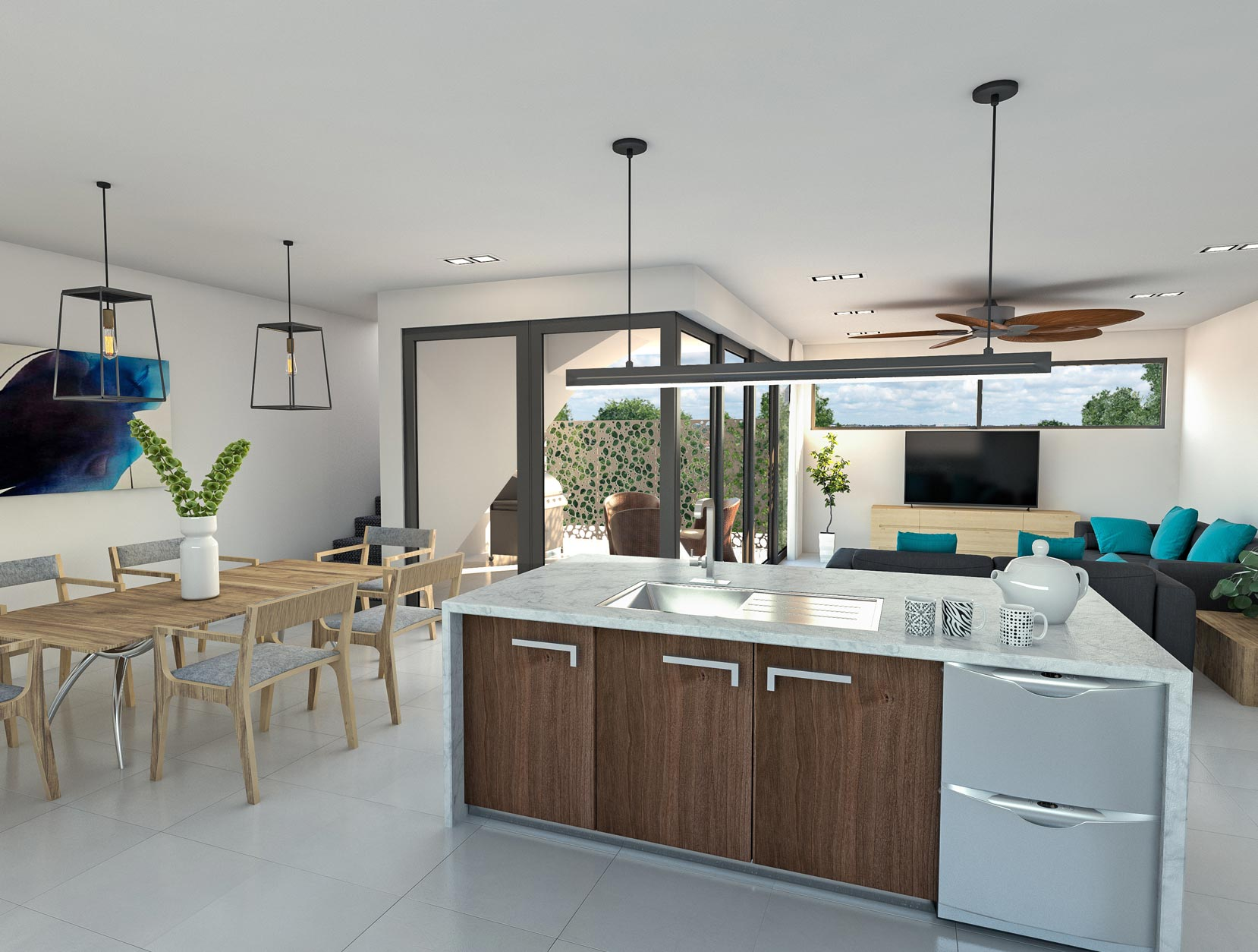 Scarborough House Design Kitchen Dining Lounge Area