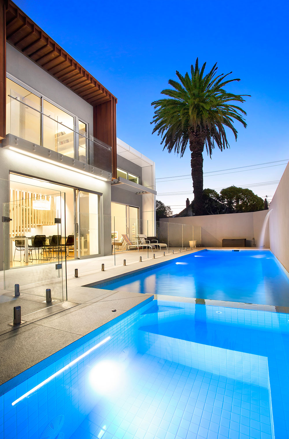 Brunswick House Design Split Pool