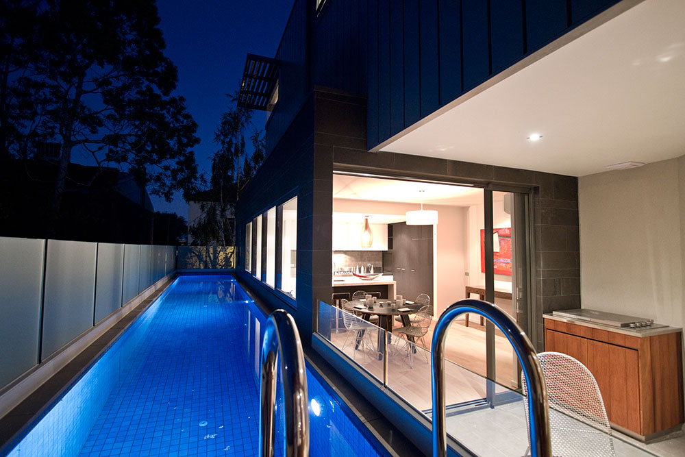 Fitzroy Townhouses Elevated Lap pool