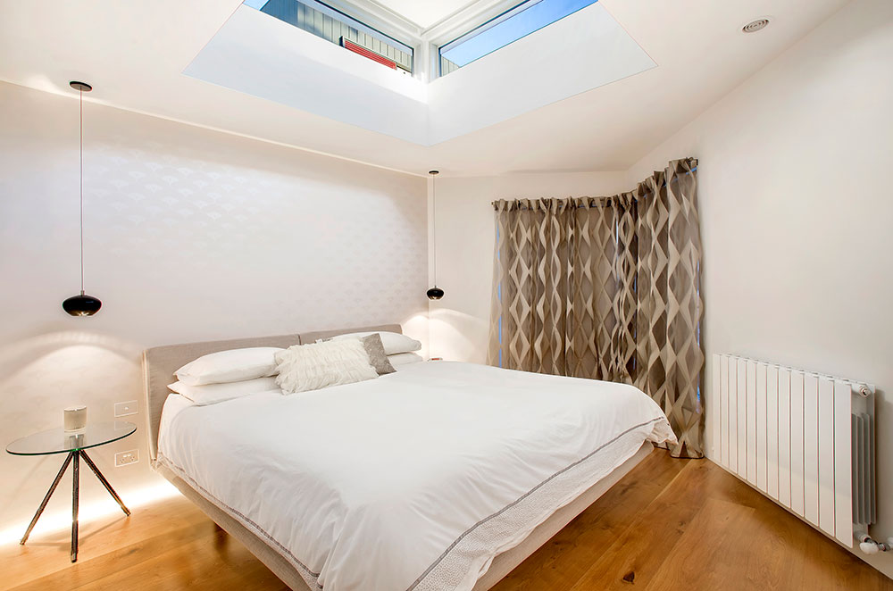 Brunswick House Design Bedroom Wooden Floor with Highlight Window