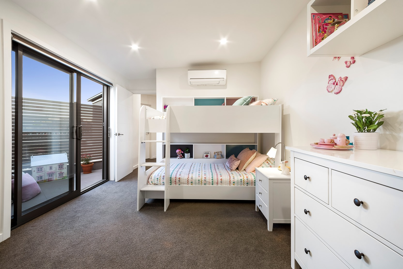 Kew House Design Small Bedroom Bunk Bed White Patio