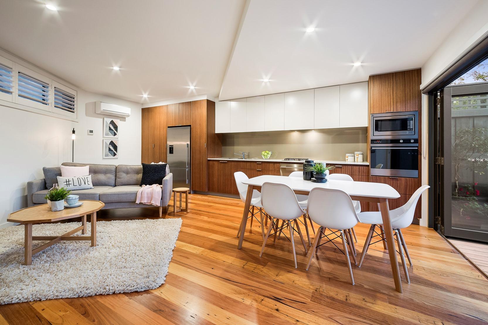 Kew House Design Dining Kitchen Lounge Wooden Floor
