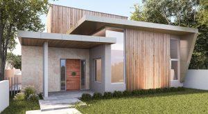 Farifield House Design 2 Story Lawn Wood