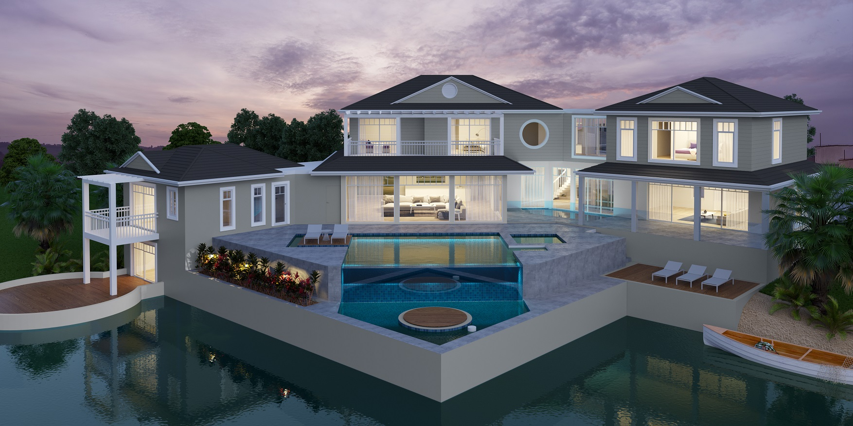 Custom House Design Hampton House Pool 2 Story